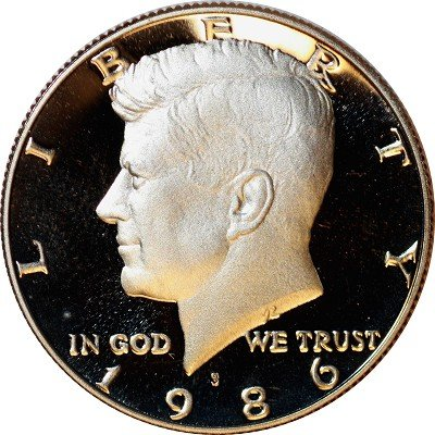 1986 S Gem Proof Kennedy Half Dollar US Coin Half Dollar Uncirculated US Mint