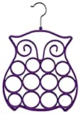 Home Basics 2PK Scarf Hanger-Dress (Owl, Purple)