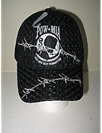 POW Caps- MIA Barbed Wire Cap Black