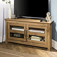 New 44 Inch Wide Corner Television Stand in Barnwood Finish