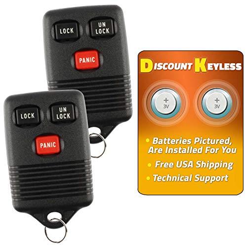 For 94-99 Ford Mercury Keyless Entry Remote Key Fob 3btn 3165189 GQ43VT4T F6UZ-15K601-AB - 2 PACK