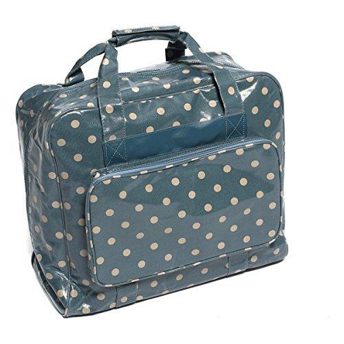 Hobbygift Sewing Machine Bag Vintage Blue Polka Dots Crafts