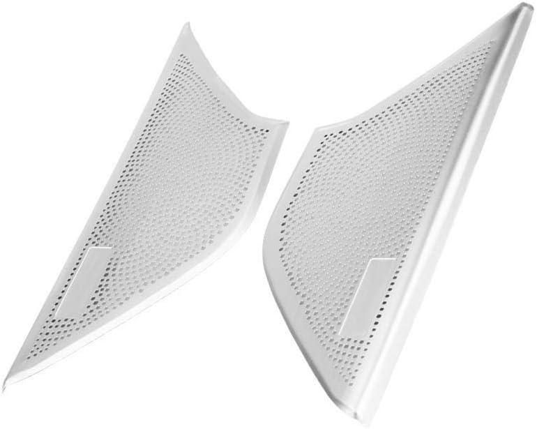 KSTE 2pcs en Alliage daluminium Porte Avant Haut-Parleur Couverture de Finition for BMW S/érie 5 G30 2017-2018