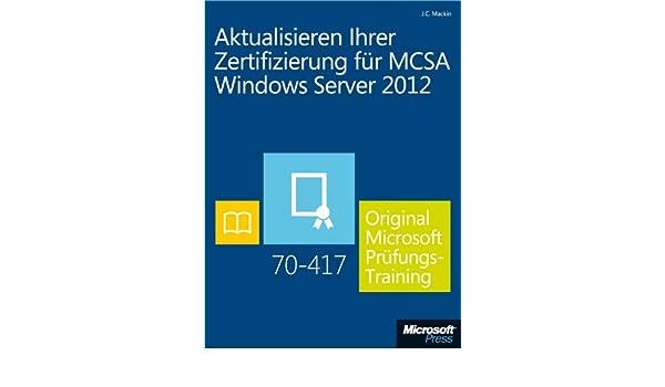 Amazon.com: Aktualisieren Ihrer Zertifizierung für MCSA Windows ...