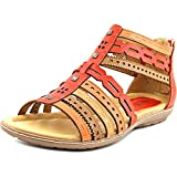 Earth Women's Bay Scarlet Multi Soft Leather Sandal, 5.5 B(M) US