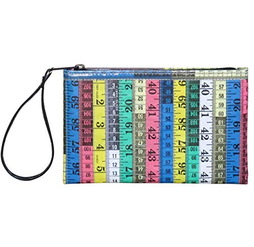 Wristlet Made From Colorful Measuring Tapes Prime fun gift for woman who likes sewing kits for adults travel bag craft basket box sew accessories and supplies thread storage case tape measure supply from Upcycling by Milo