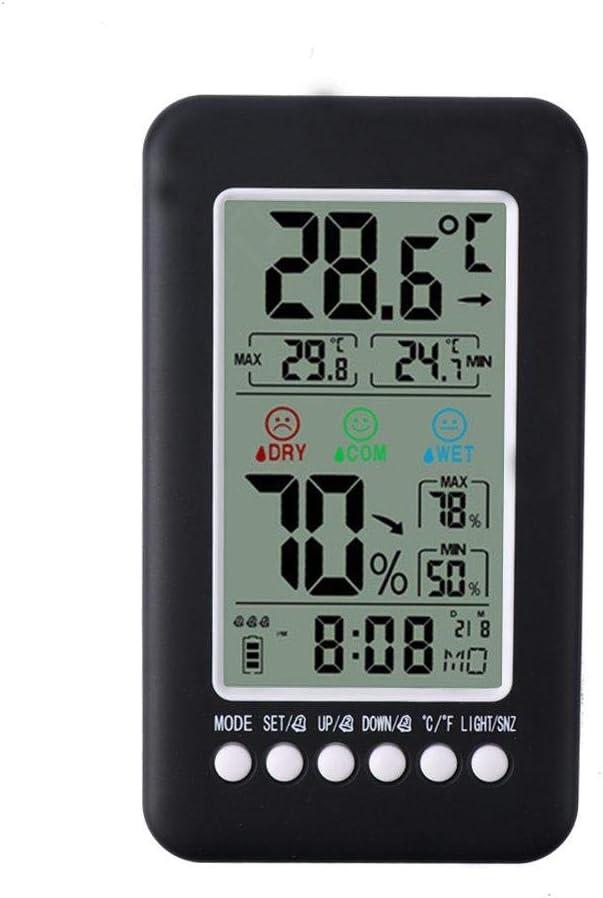 JIAHANLI Réveil numérique Thermomètre indicateur de Confort