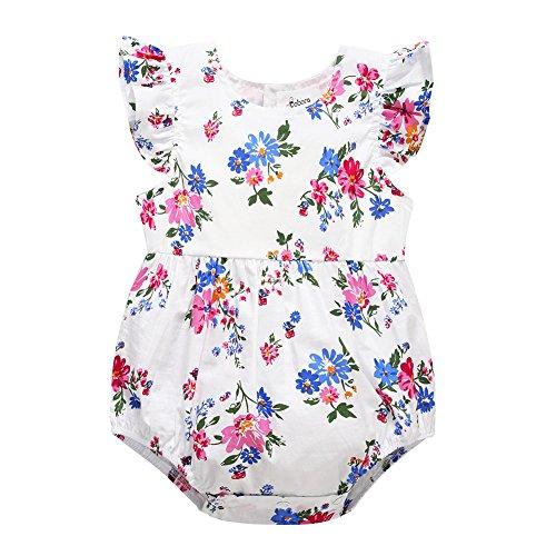 BOBORA Infant Baby Girl Romper Sleeveless Heart Hollow Bodysuit Outfits Jumpsuit