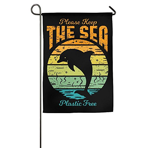 CbLLS1 Keep The Sea Plastic Free Garden Flag Family Party Fl
