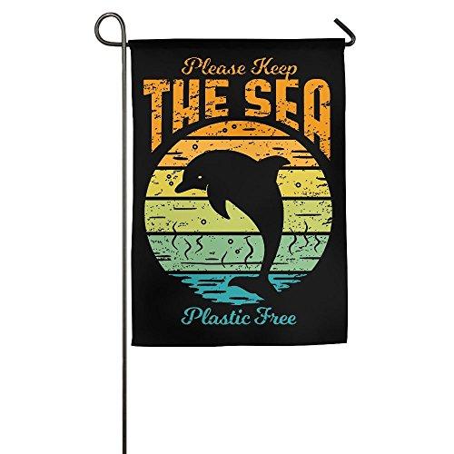CbLLS1 Keep The Sea Plastic Free Garden Flag Family Party Fl