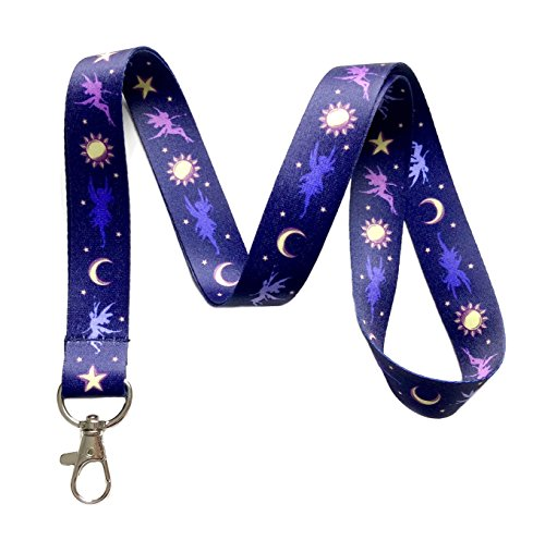 Fairy Lanyard (Magical Fairy Print Lanyard Key Chain Id Badge Holder)
