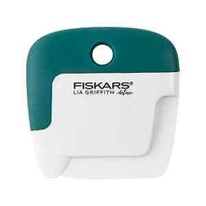 Fiskars 119940-1001 Lia Griffith Signature Paper Curler & Scoring Tool, Teal Green/White