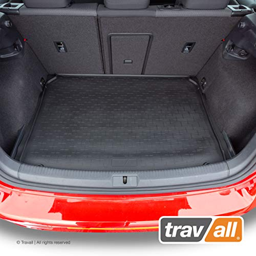 Travall Liner Compatible with Volkswagen Golf Hatchback (2012-Current) Also for VW Golf GTE, R and e-Golf Hatchbacks (2014-Current) TBM1094 - All-Weather Black Rubber Trunk Mat Liner