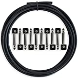 Crosby Audio Solderless Pedalboard Cable Kit - No Cable Stripping Required, 10ft Cable & 10 Connectors Make 5 Patch Cables for Guitar Effects Pedals & Pedal Board