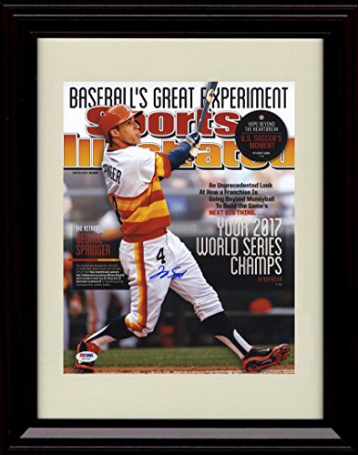 framed-george-springer-sports-illustrated-autograph-replica-print