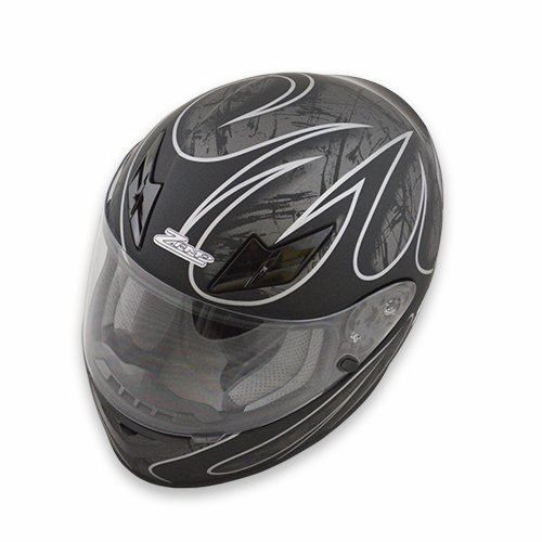 Zamp FS-8 Snell M2015 / DOT Helmet Silver/Black Matte XX-Large
