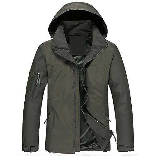 WULFUL Men's Windproof Waterproof Lightweight Windbreaker Outdoor Softshell Causal Jacket with Hood by WULFUL