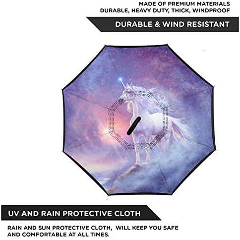 ユニコーン 逆さ傘 逆折り式傘 車用傘 耐風 撥水 遮光遮熱 大きい 手離れC型手元 梅雨 紫外線対策 晴雨兼用 ビジネス用 車用 UVカット