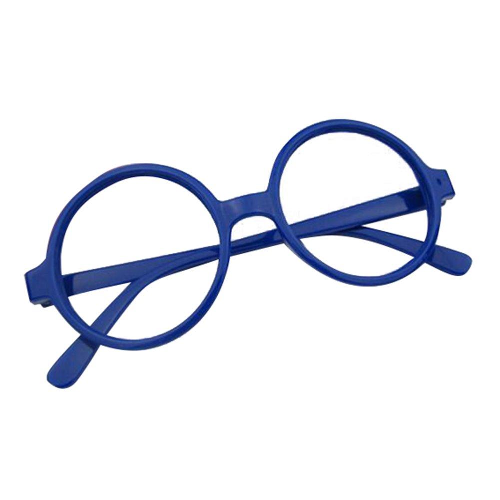 Hibote Mädchen Junge Runde Brille - Clear Lens Glasses Frame Geek/Nerd Brillen mit Car Shape Gläser Fall X170929ETYJJ0710-X