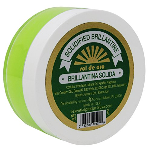 SOL DE ORO Brilliantine Solid Hair Dressing (Green) 2 oz Brillantina Solida Verde