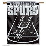 WinCraft NBA San Antonio Spurs 67296014 Vertical Flag, 27' x 37', Black