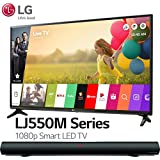 LG Electronics 49LJ550M 49-Inch Class Full HD 1080p Smart LED TV (2018 Model) with Sharper Image SBT2012BK 37 Sound Bar Bluetooth Speaker With Optical Input