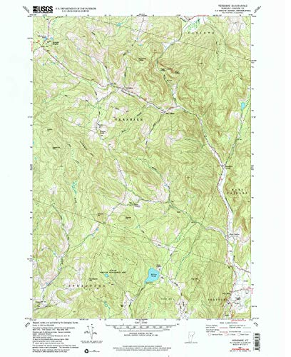 YellowMaps Vershire VT topo map, 1:24000 Scale, 7.5 X 7.5 Minute, Historical, 1981, Updated 1991, 26.9 x 22 in - Paper