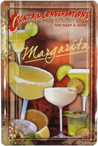 Cartel de chapa 20 x 30 cm Cóctel Margarita Diseño Retro 677 ...