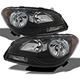 For Chevy Malibu OE Replacement Black Bezel Headlights Driver/Passenger Head Lamps Pair New