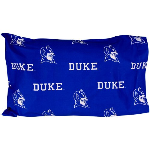 Duke Printed Pillow Case - (Set of 2) - Solid by College Covers