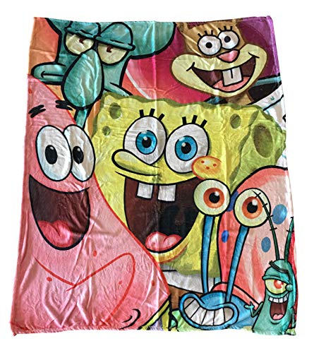 Nickelodeon Universe Spongebob + Friends Cast Blanket