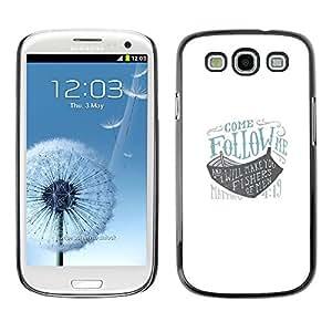 Sígueme Arca Dios nave azul barco blanco- Metal de aluminio y de plástico duro Caja del teléfono - Negro - Samsung Galaxy S3