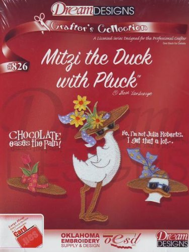 Bernina Artista Embroidery Machine Card MITZI THE DUCK (Pes Embroidery Card)