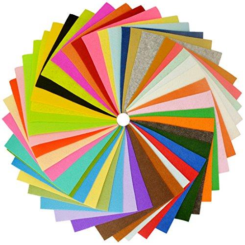 42pcs Felt Fabric, Jmkcoz Crafts DIY Felt Nonwoven Fabric Sheet for Art Craft 42 Colors 15 x 15cm