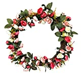 SIYWINA Decorative Front Door Wreath Summer Door Wreath Spring Wreath