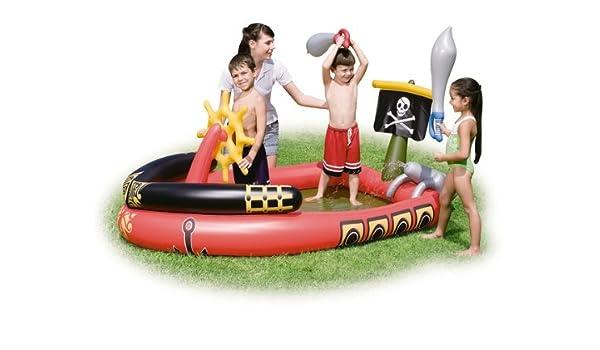 Bestway - Piscina de barco pirata con espadas inflables y ...