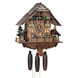 8-Day Black Forest House Musicians Cuckoo Clock