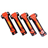 DeCho 4 Pack Car Emergency Escape Window Breaker and Seat Belt Cutter Hammer with Light Reflective Tape,Life Saving...