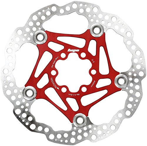 Hope Floating Disc Rotor: 160mm Red (Best Downhill Disc Brakes)