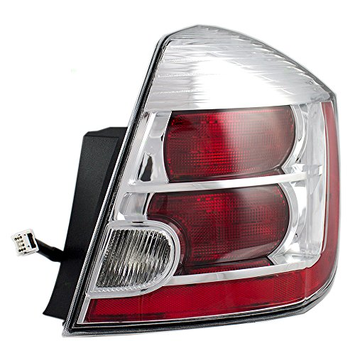 Passengers Taillight Tail Lamp with Chrome Trim Replacement for Nissan 26550-ZT50A ()