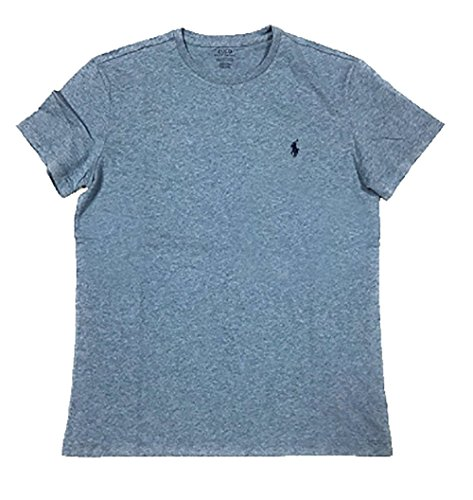 Polo Ralph Lauren Mens Classic Fit Solid Crewneck T-Shirt (X-Large, Ocean Heather)