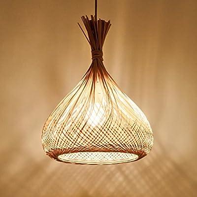 Waineg Bamboo Weaving Chandelier Handmade Weave Rattan Art Bird Cage Pendant Lamp E27 Creative Restaurant Bar Cafe Ceiling Decoration Chandelier 110v 220v