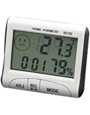 HARRYSTORE DC102 LCD Display Thermometer Humidity Temperature Hygrometer Meter Clock Tester