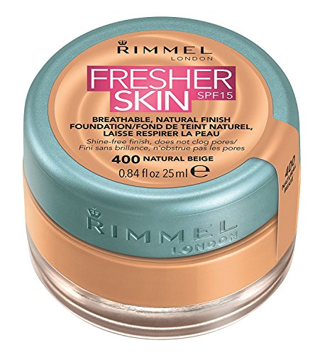 Rimmel Fresher Skin Breathable Natural Finish Foundation SPF 15 25ml-400 Natural - 400 Spf
