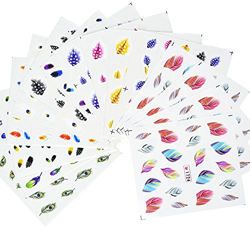 eBoot Colorful Feather Transfer Stickers