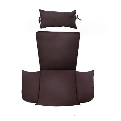 Amazon.com: Cojín de silla de jardín silla con cabezal ...