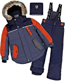 Deux par Deux Boys' 2-Piece Snowsuit Back to Cool Navy, Sizes 5-14 - 14