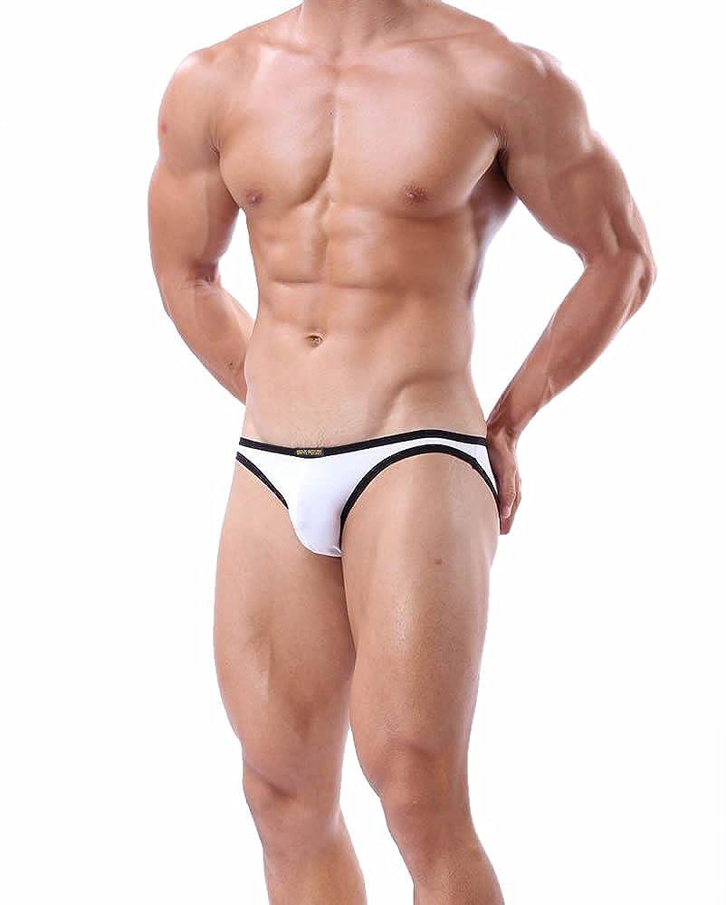 BRAVE PERSON Fashion Smooth Bikini Swimwear Color Outline Mens Briefs Underwear B1119