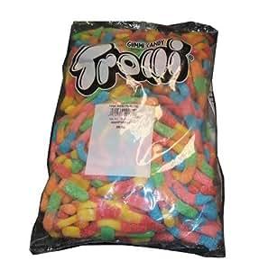 "Trolli ""King Size"" Large Brite Crawlers Gummi Candy Worms, 5lb Bulk Bag"