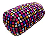 "Cushie Pillows 7"" x 12"" Microbead Bolster Squishy/Flexible/Hypoallergenic/Extremely Comfortable Roll Pillow – Small Dot"